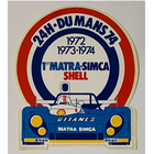 Sticker of the Day No.3: Matra-Simca Shell 24h-Du Mans 1974