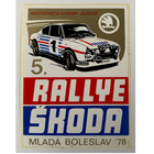 Sticker of the Day No.7: Rallye Skoda Mlada Boleslav '78