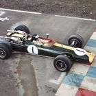 Jim Clark Aboard the Lotus 43