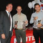 Photo: Simon Blunt (left) with Phil Clarke and Jason Pritchard