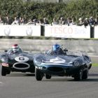 Photo of D-Types at Silverstone Revival