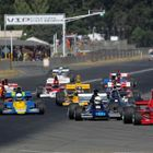 Ken Smith leads the Formula 5000 field at the Skope Classic