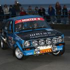 Ford Escort on Night Stage