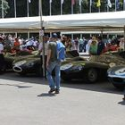 Photo of people looking at cars at Goodwood