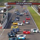 Lola T70s lead the Masters Historic Sportscar field into Zandvoorts first corner