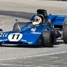 John Delane's evocative Tyrrell 002 will be on the grid