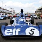 Cars on the grid ready for Sir Jackie Stewart tribute at Goodwood 2014