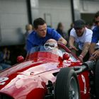 Sir Stirling Moss at the 2014 Silverstone Classic in a Maserati 250F