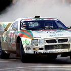 Miki Biasion rallying the mid-engined Lancia 037