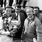 Jim Clark, Grahame White and Colin Chapman at Goodwood