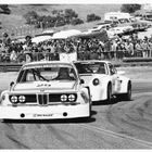 Sam Posey (25) leads Peter Gregg (59) at the 1975 Monterey Triple Crown