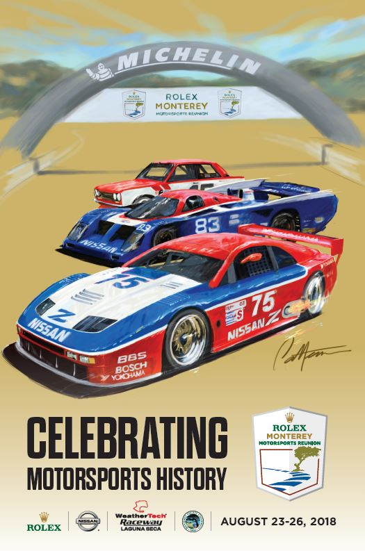 2018 Monterery Motorsport Reunion Poster
