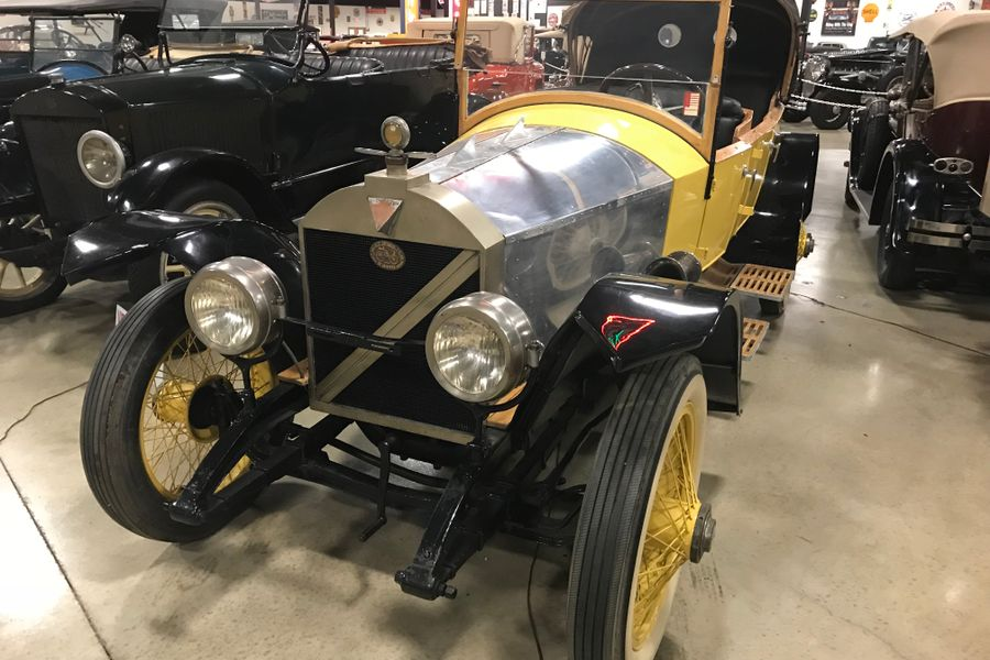 1914 Marmon Wasp.  This is the road version of the 1911 Indy 500 winner.  It was one of 14 made of which only two are still in existence.