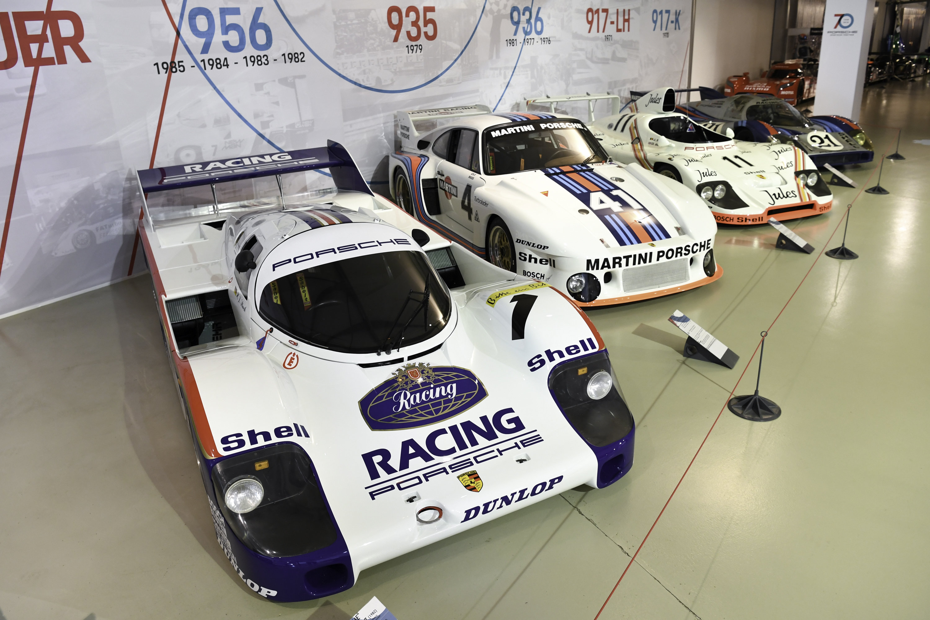Porsches at Le Mans Museum