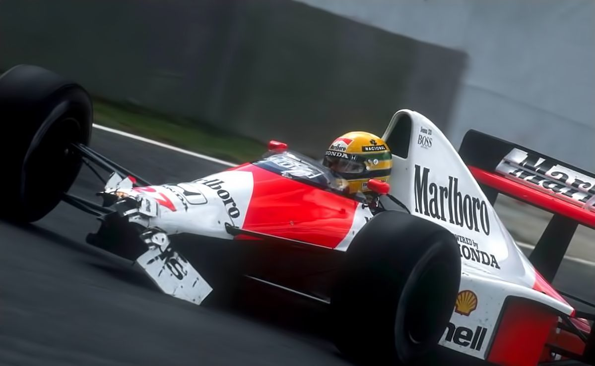 Ayrton Senna Heading to the Pits