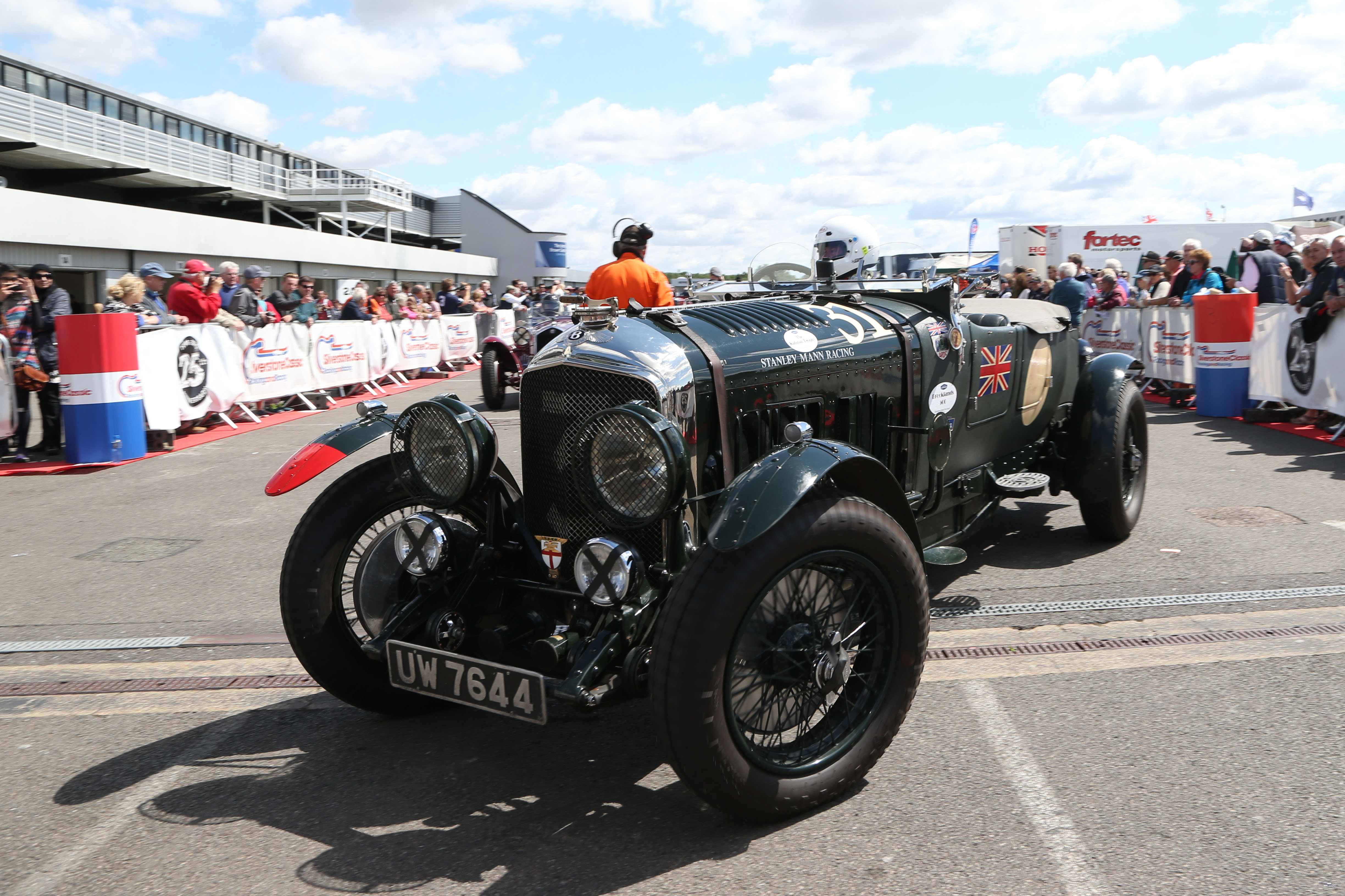 Bentley in Silverstone Classic Paddock