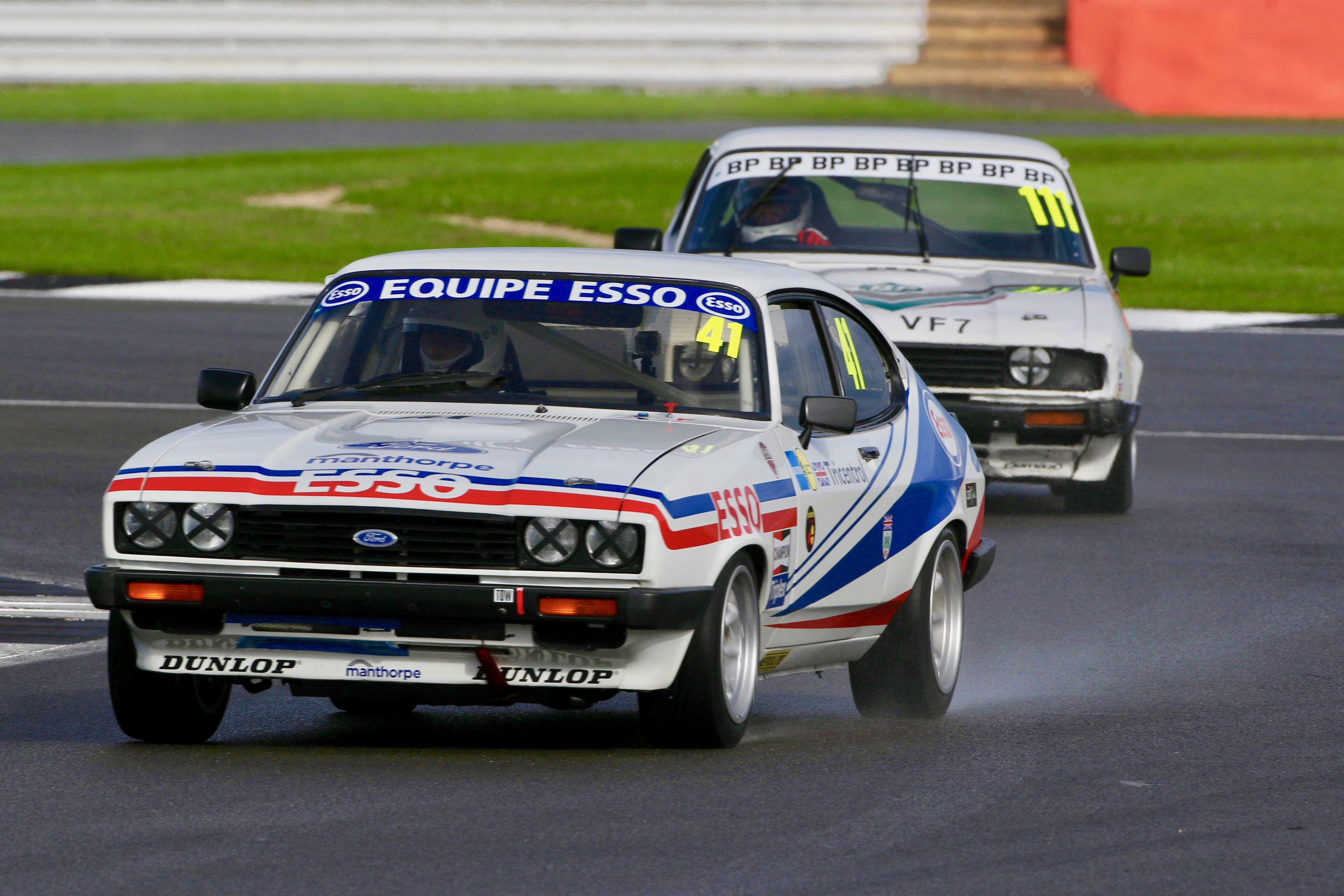 Ford Capris at Silverstone Classic