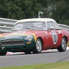 The MGB of Peter Bowyer at the Oulton Park Gold Cup.