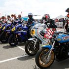 Riders Line up for Silverstone Classic Bike Legends