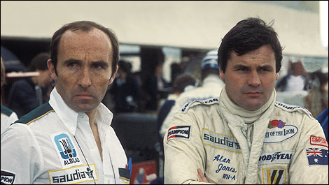 Frank Williams and Alan Jones