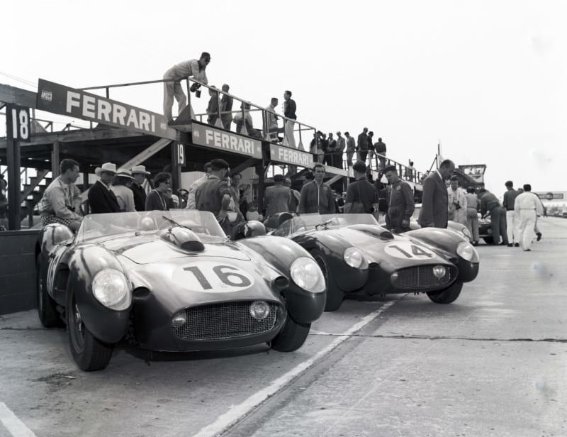 Scuderia Ferrari's first and second place victors at the 7th Annual 12 Hours of Sebring in 1958.