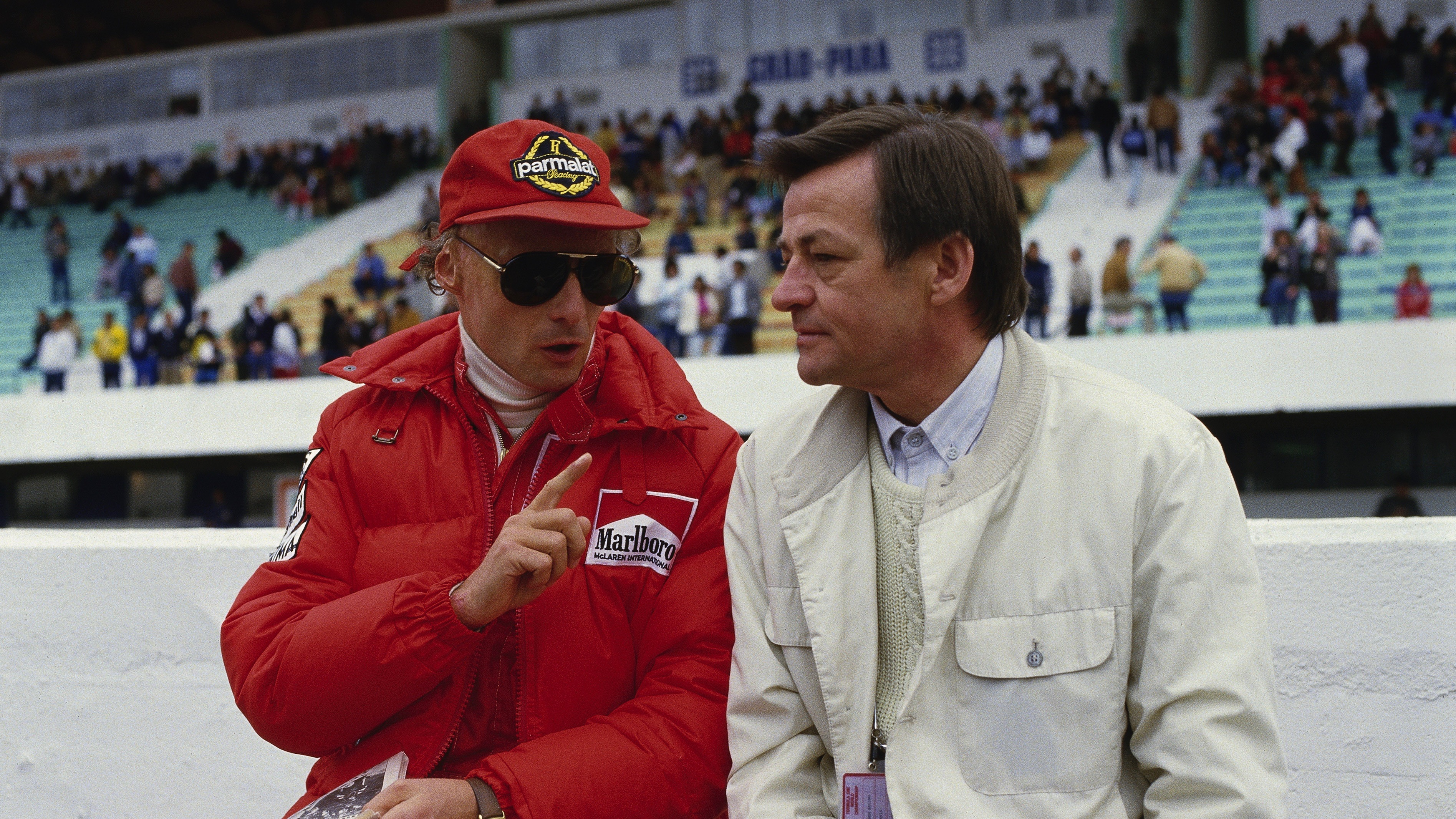 Hans Mezger and Niki Lauda